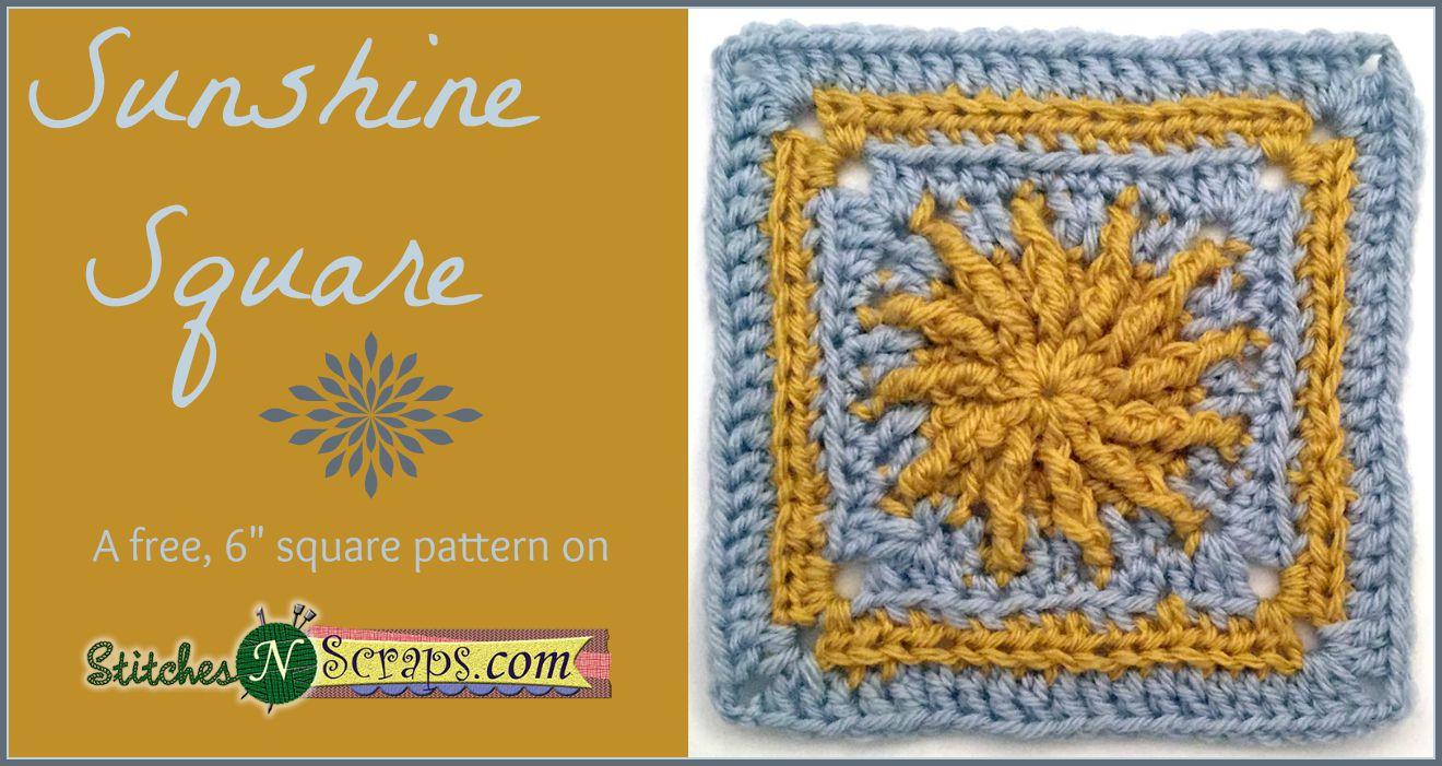 Free Pattern - Sunshine Square