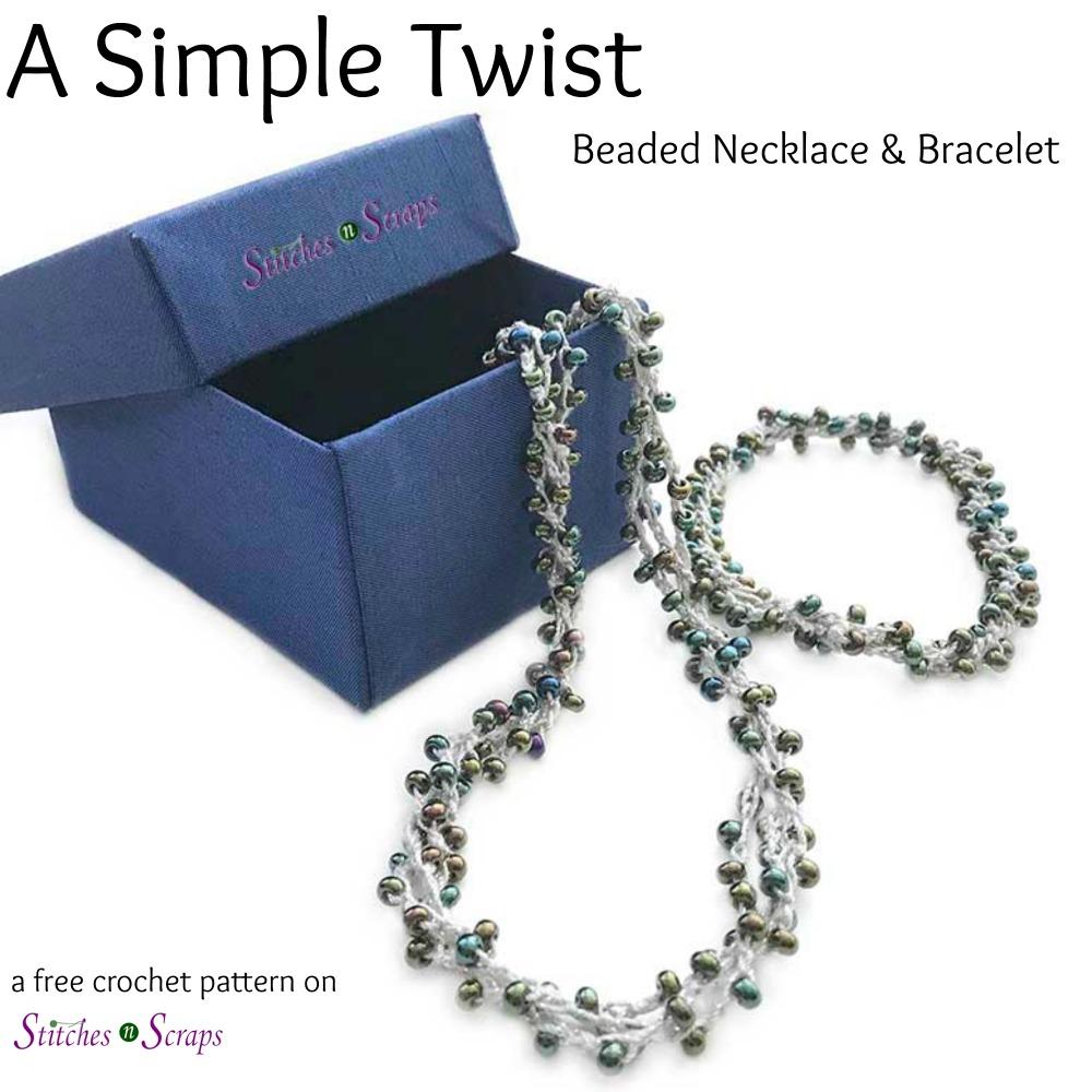 A Simple Twist - a free crochet pattern on Stitches n Scraps