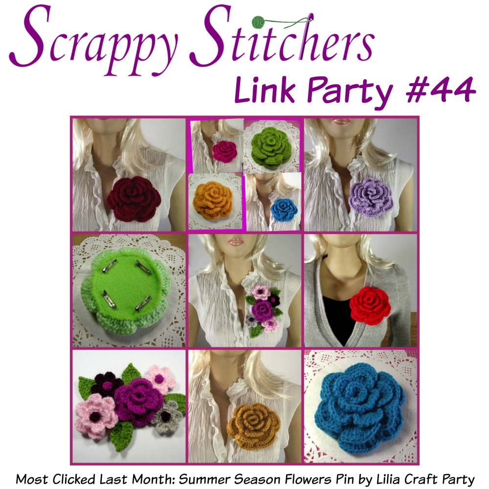 Scrappy Stitchers Link Party #44 - August 2018