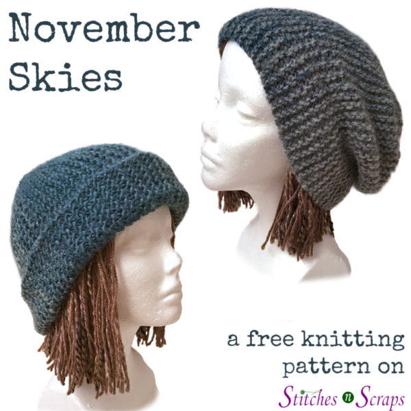 November Skies - a free knitting pattern on Stitches n Scraps