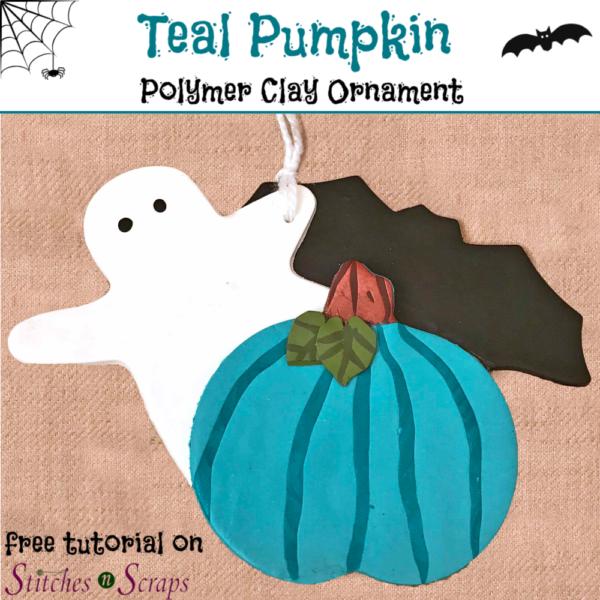 Teal Pumpkin decoration - Stitches n Scraps