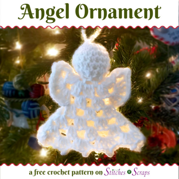 Angel Ornament - a free crochet pattern on Stitches n Scraps