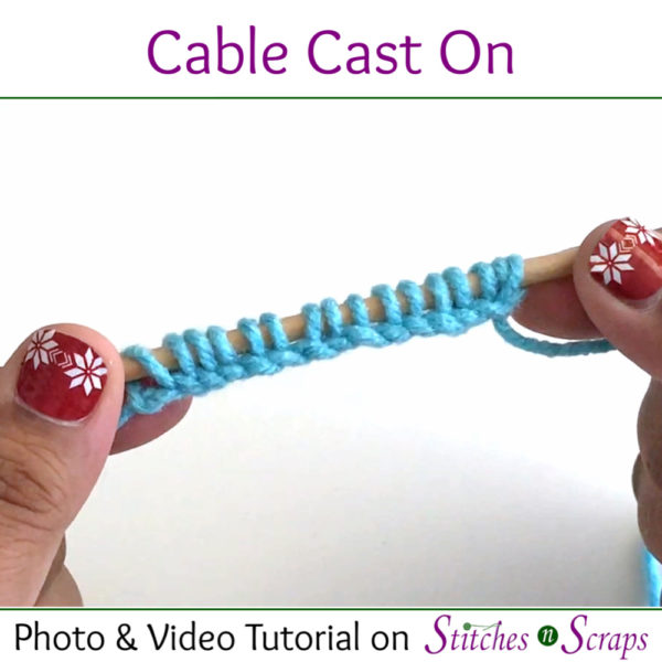 Cable Cast on Tutorial on Stitches n Scraps