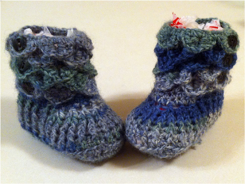 Week Of Finishing Fo 2 Crocodile Stitch Baby Booties Stitches N