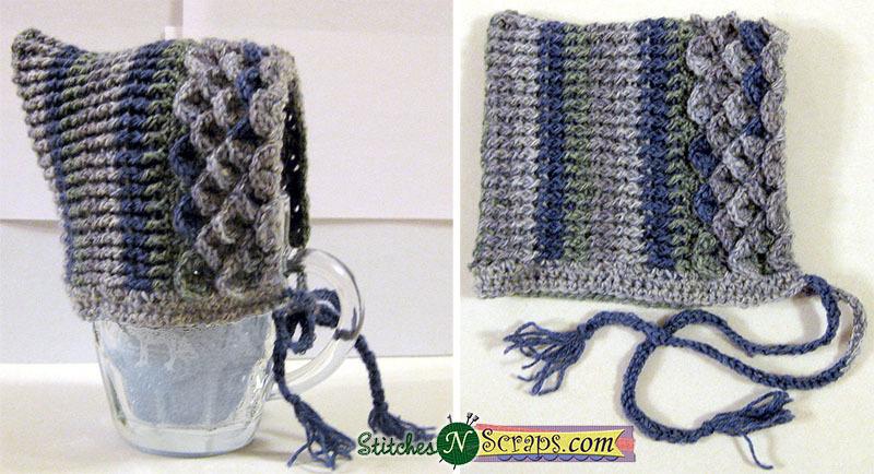 Free Pattern Crocodile Stitch Pixie Hat Stitches N Scraps