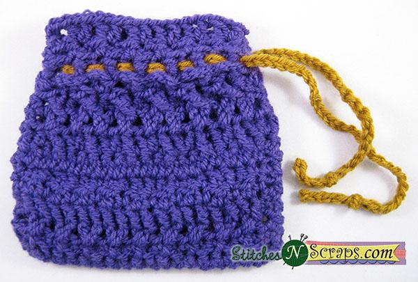 Free Pattern Design Improv Workshop 1 Drawstring Bag Stitches