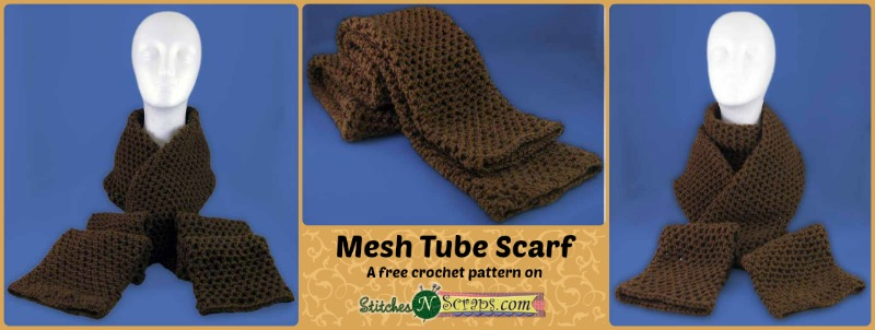 Free Pattern Mesh Tube Scarf Stitches N Scraps