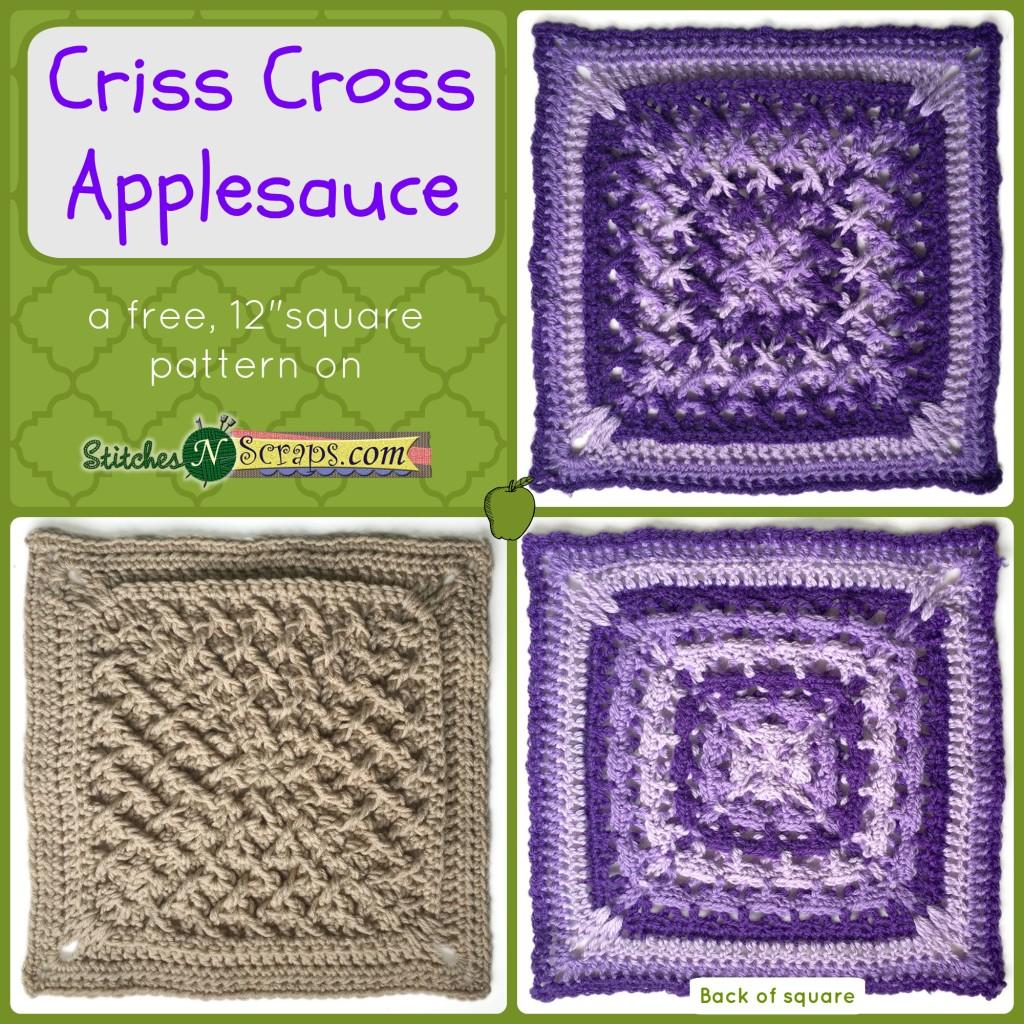 Free Pattern Criss Cross Apple Sauce Stitches N Scraps