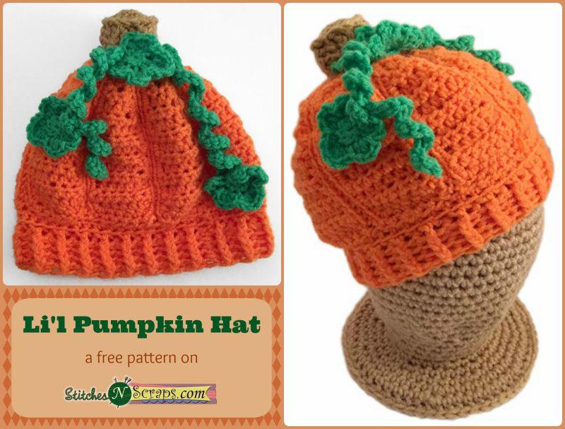 Free Pattern Lil Pumpkin Hat Stitches N Scraps