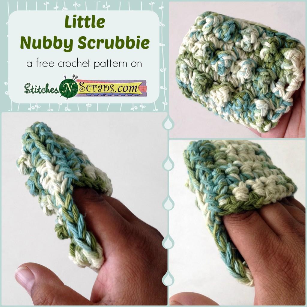 Free Pattern Little Nubby Scrubbie Stitches N Scraps