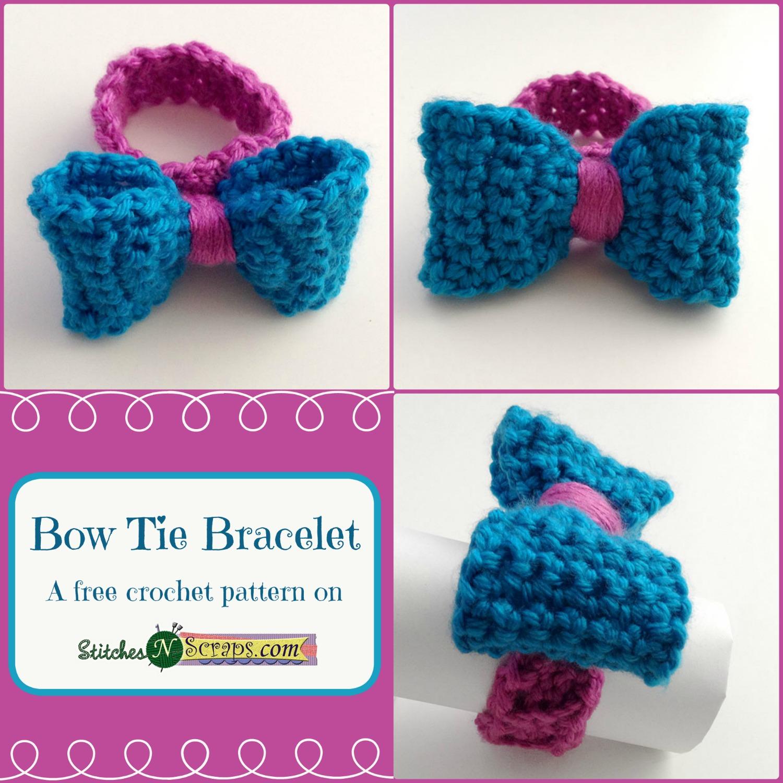Free Pattern - Bow-Tie Bracelet - Stitches n Scraps