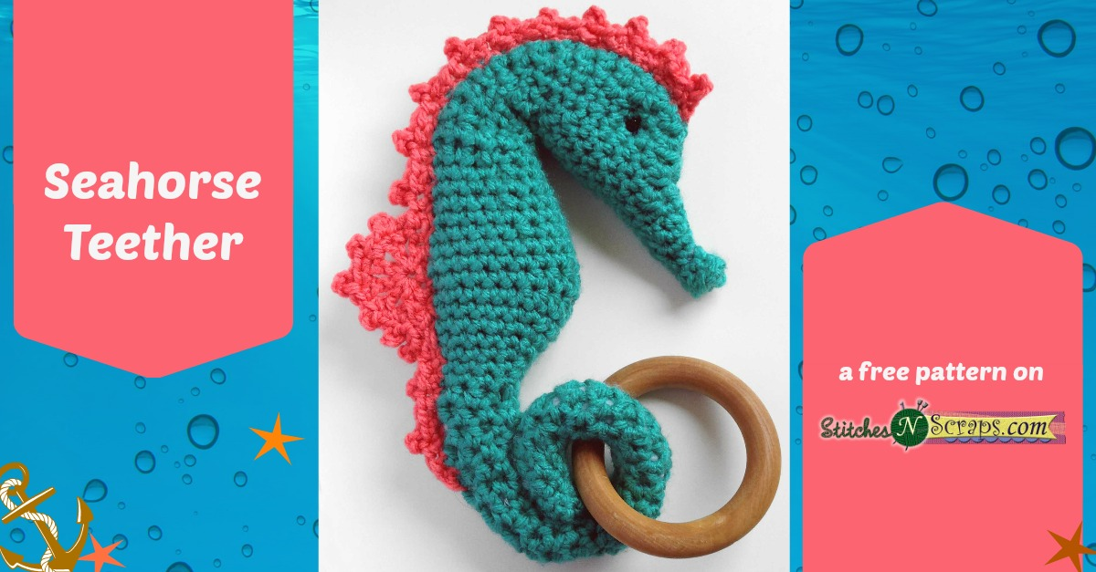 Free Pattern Seahorse Teether Stitches N Scraps
