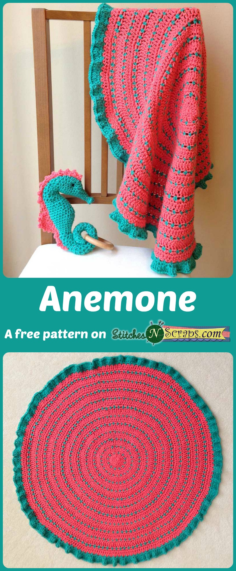 Free Pattern Anemone Stitches N Scraps