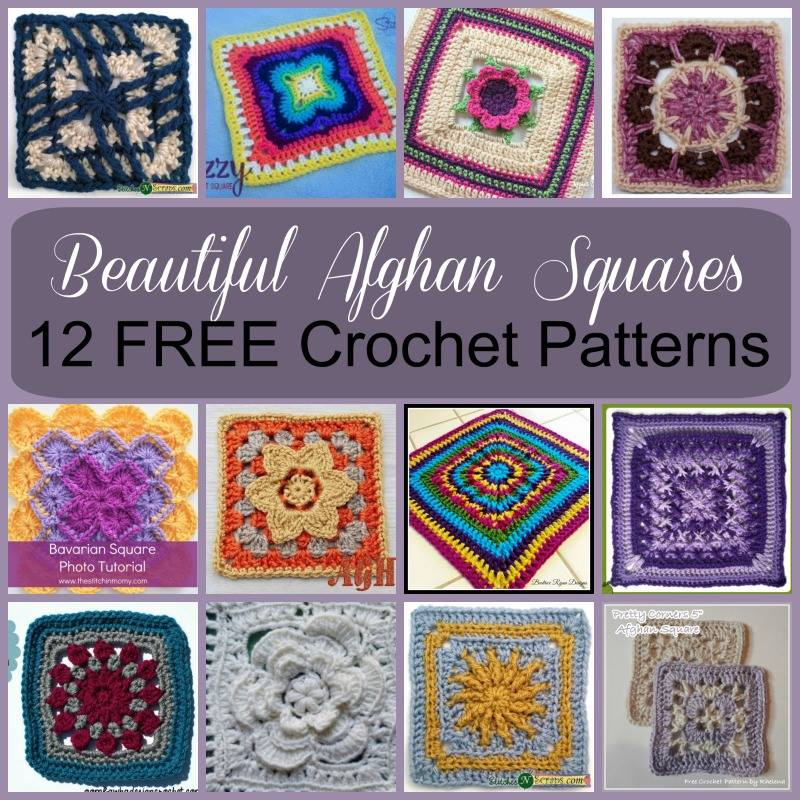 Beautiful Afghan Squares 12 Free Crochet Patterns Stitches N Scraps