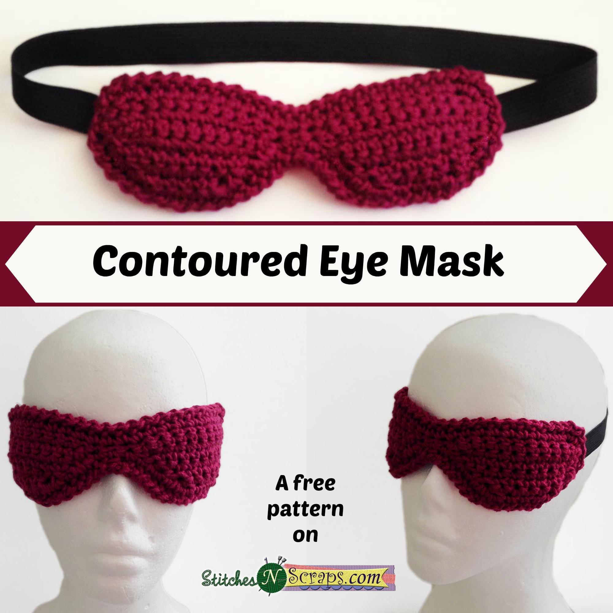 Free Pattern - Contoured Eye Mask - Stitches n Scraps