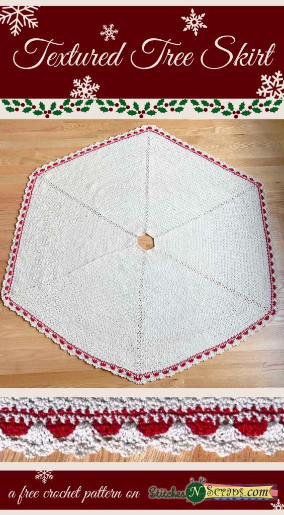 Free Pattern Textured Tree Skirt Stitches N Scraps