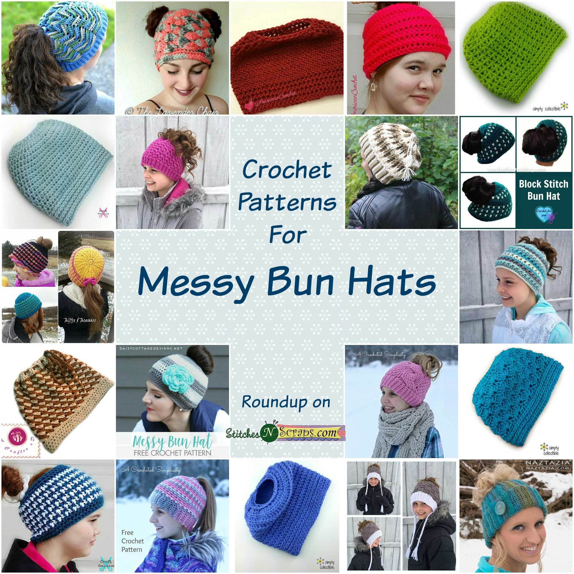 d6293a583a9 Round up - Messy Bun and Ponytail Hats - Stitches n Scraps