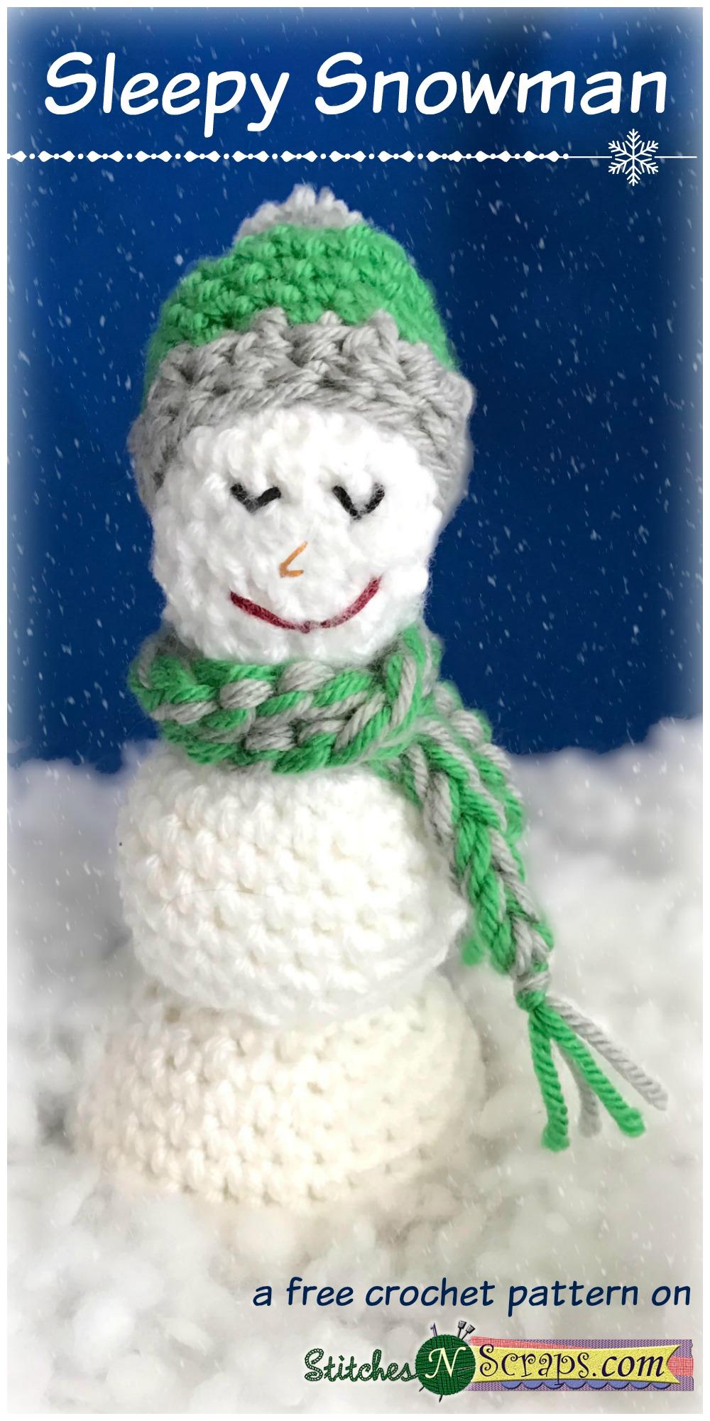 Free Pattern - Sleepy Snowman - Stitches n Scraps