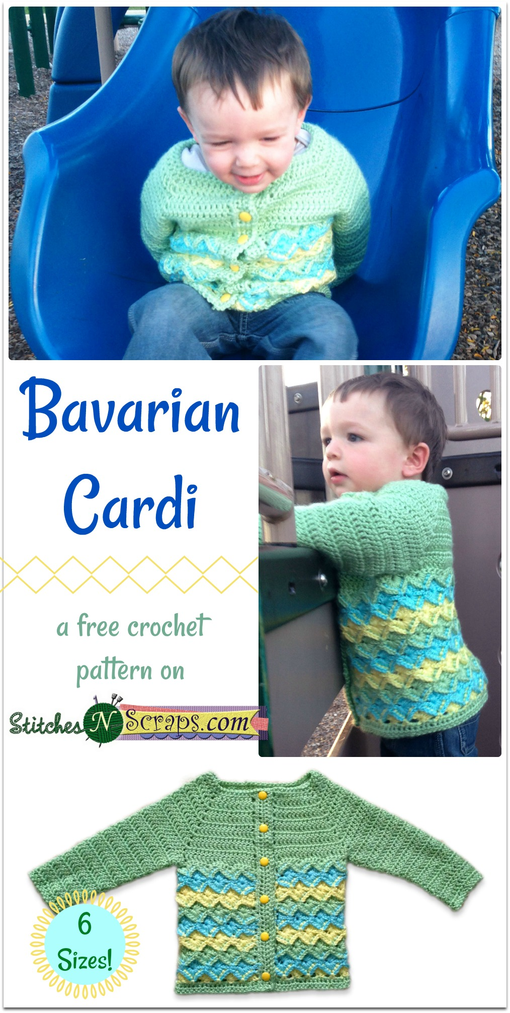 Free Pattern - Bavarian Cardi - Stitches n Scraps