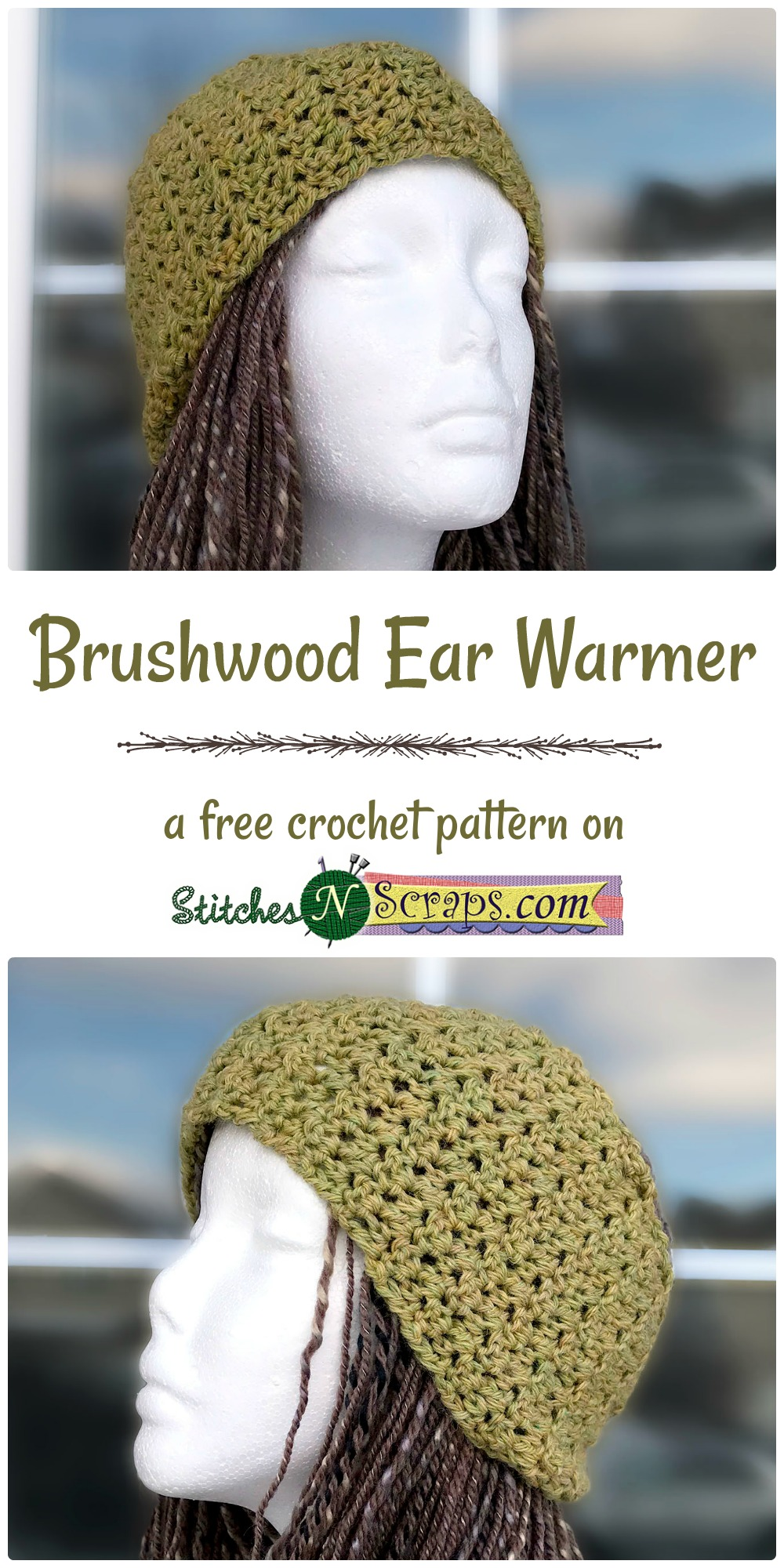 Free Pattern - Brushwood Ear Warmer - Stitches n Scraps