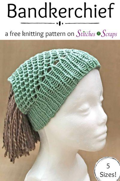 Free Pattern Bandkerchief Knit Stitches N Scraps