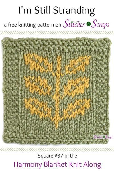 Free Pattern Im Still Stranding Harmony Blanket Square 37