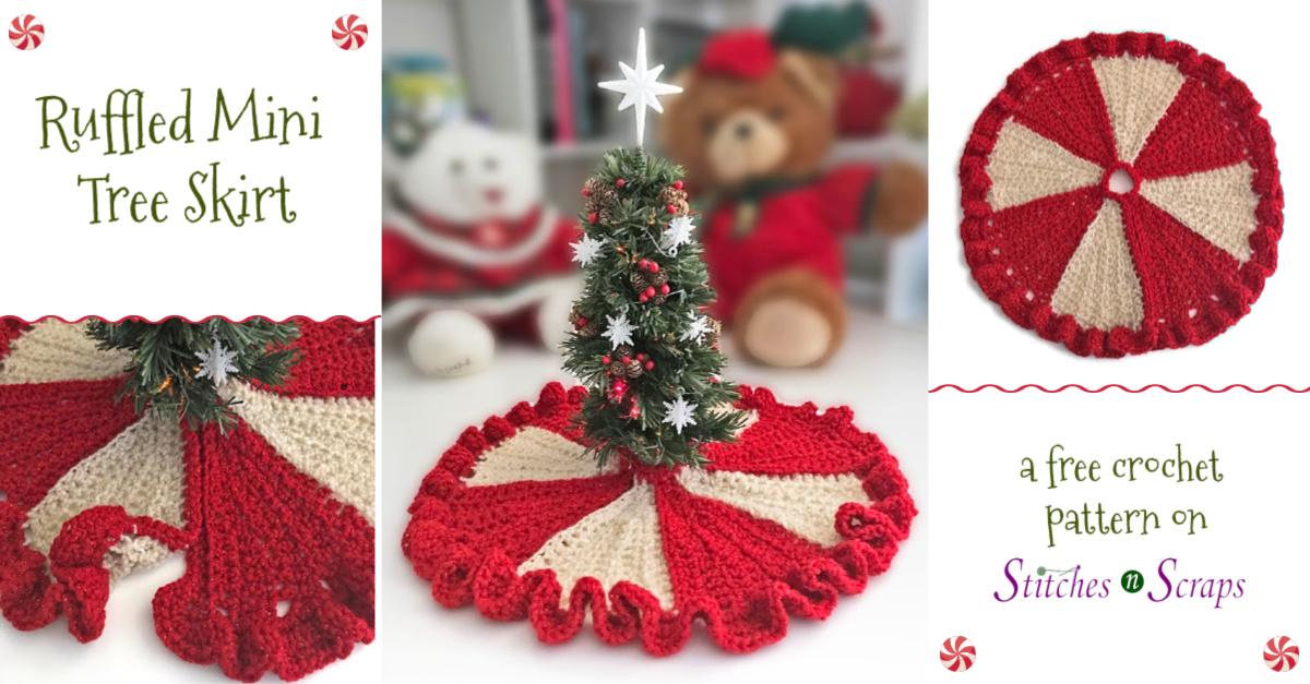 Free Pattern Ruffled Mini Tree Skirt Stitches N Scraps
