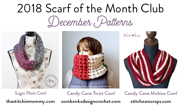 Free Pattern - Candy Cane Mobius Cowl | Stitches n Scraps